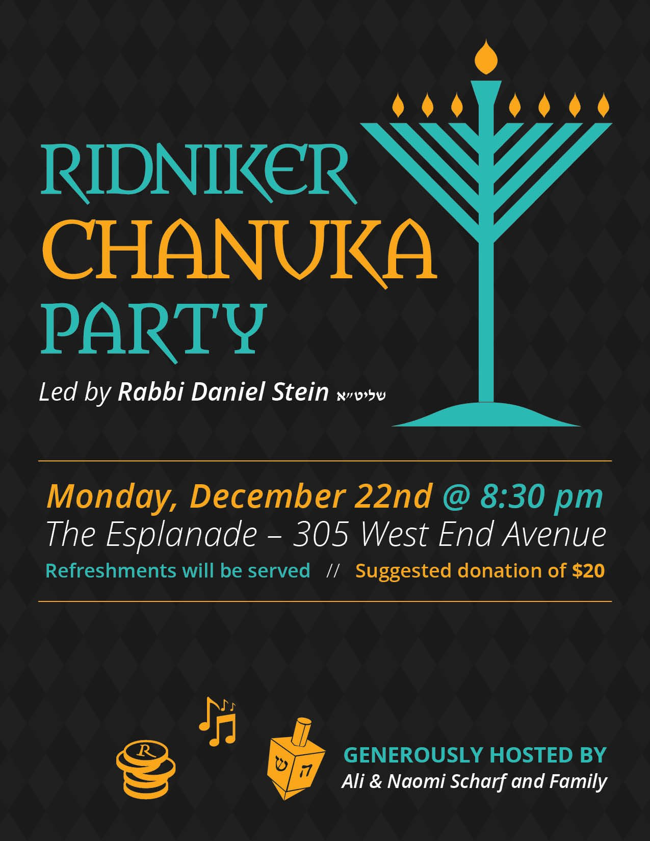 Ridniker Chanuka Party 2014